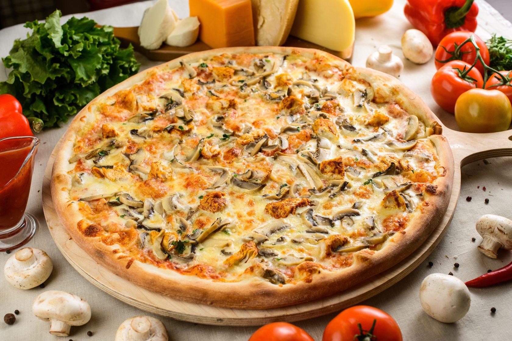 что рецепт пиццы с грибами и сыром фото только